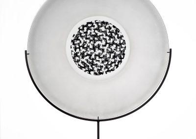 1) Murrini platter on stand