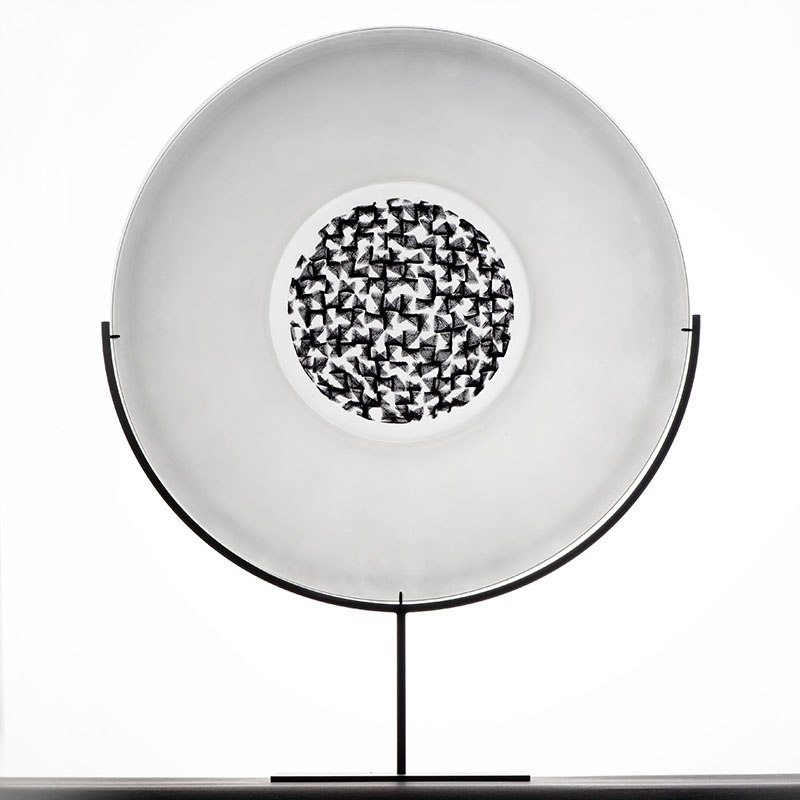 1) Murrini platter on stand