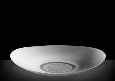 1) White oval platter