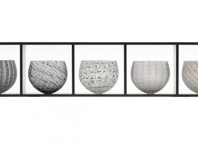 3) 5 part Nest Collection, b&w, 106x22x21 cm