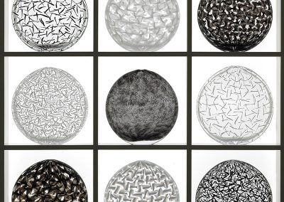 4) Black&White Oval Glassweaver Collection, 2009, 74x74x16,5 cm-67