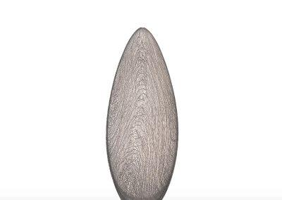 8) White Glassweaver Vessel, 2009, 56 cm